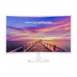 "Samsung 32"" Curved Display Monitor - white"